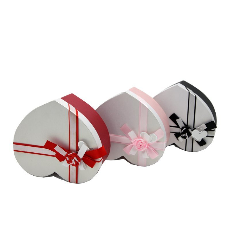 Custom Gift Paper Boxes of Heart Shape for Chocolate
