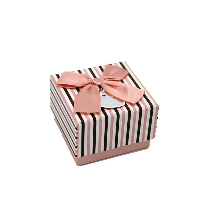 Empty Fancy Paper Gift Sweet Box with Bowknot