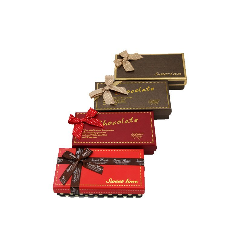 Custom Chocolate Paper Packaging with Gold Foil Stamping