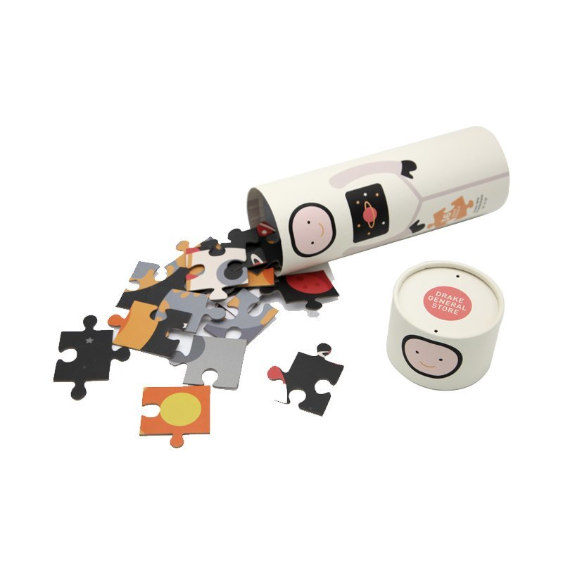 Custom Paper Cylinder Tube Packaging for Cartoon Puzzles