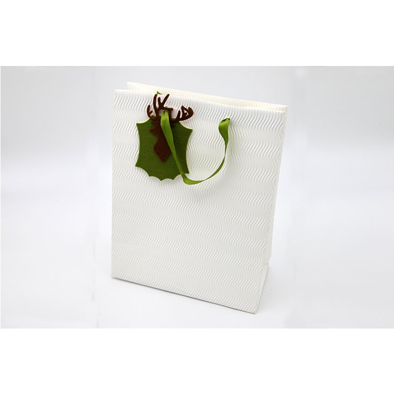 White Paper Gift Bags with handles For Clothes